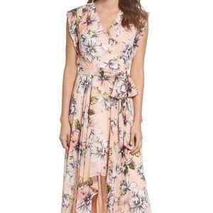 Eliza J Ruffle High/Low Maxi Dress - Size 6